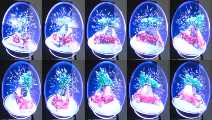 3D-Hologramme fuer Weihnachten